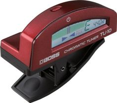 """BOSS TU-10: Clip-On Chromatic Tuner Red by BOSS. $34.99. The BOSS  TU"""" line is synonymous with reliable, roadworthy and accurate tuning. Today, the world's most famous tuner prefix gets  clipped-on"""" with the debut of the TU-10. Reinventing the traditional image of clip-on tuners, the TU-10 offers a stylish design and robust body with high-performance features derived from other BOSS tuners, such as Accu-Pitch, flat tuning up to five semitones, and Stream mode. A ..."""