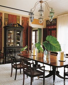 Dining Room walls are appealing, but too busy.
