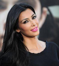 Kim Kardashian's Hot Pink Lips