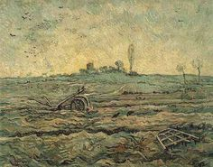 Friends of Vincent (@VanGoghADay) | Twitter  The Plough and the Harrow (after Millet) Oil on canvas Saint-Rémy: January, 1890 Amsterdam: Van Gogh Museum