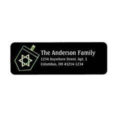 Dreidel Hanukkah Address Labels d4