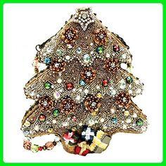 Mary Frances Sugar Plum Beaded Jeweled Santa Christmas Holiday Tree Handbag Shoulder Bag - Shoulder bags (*Amazon Partner-Link)