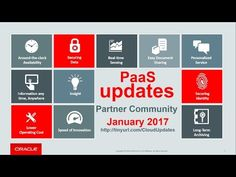 PaaS & Middleware Partner YouTube Update January 2017