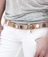 Noosa belt in naturel leather.