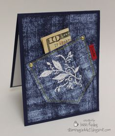 Denim Card :: Confessions of a Stamping Addict