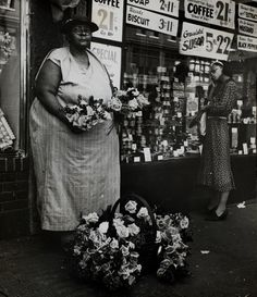 "Flower vendor, from ""Harlem Document."" Circa 1935. Beatrice Kosofsky, courtesy George Eastman House"