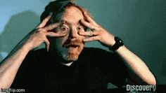 Adam Savage trying to sneeze with his eyes open