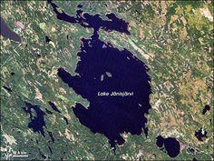 Lake Jänisjärvi, Russia. Impact Crater Site