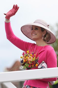 Queen Maxima of The Netherlands attends King's Day (Koningsdag), the celebration of the birthday of the Dutch King, on April 27, 2016 in Zwolle, Netherlands.