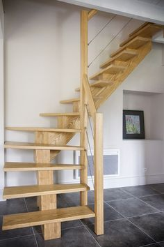 I'm a sucker for this awesome photo Rustic Staircase, Wooden Staircases, Staircase Design, Stairways, Garage Stairs, Attic Stairs, House Stairs, Attic Renovation, Attic Remodel