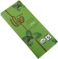 Theo Classic Organic Dark Chocolate (70% Cacao) with Mint, 3-Ounce Bars (Pack of 12)
