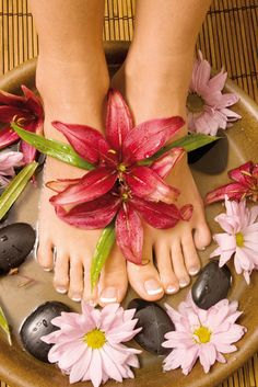 Desert Stone Pedicure: Ground your energy with this hot stone and desert sage oil massage treatment. A foot soak and scrub are incorporated with stone massage to soften the feet and calm the body and mind. Nail care finishes the treatment so your feet look as good as you will feel. ' #Tucson #Spa #Nails