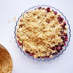Crumble fruits rouges