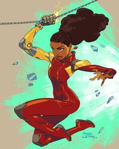 """""""""""Young Misty Knight"""", illustrated by @marcusthevisual . PLEASE TAG THE ARTIST WHEN REPOSTING THIS ARTWORK . . #marvelcomics #marveluniverse #marvelshots…"""""""