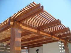 Pergola Ideas Covered House - Pergola DIY Arch - Enclosed Pergola Ideas Videos - Pergola Ideas On A Budget Fire Pits - Diy Pergola, Pergola Carport, Steel Pergola, Corner Pergola, Wood Pergola, Pergola Shade, Pergola Ideas, Cheap Pergola, Pergola Attached To House