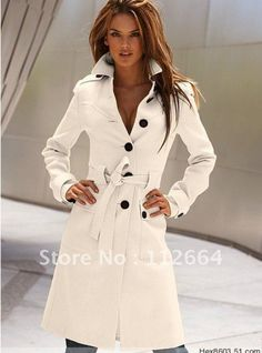 Cashmere Slim Waist Wool Coat 2013 fashion trend ...LOVE!