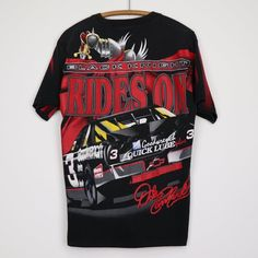 vintage Dale Earnhardt Black Night Rides On All Over Print Shirt