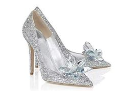 Find Cinderella Movie 2015 The Glass Slipper Princess Crystal Shoes Adult Size online. Shop the latest collection of Cinderella Movie 2015 The Glass Slipper Princess Crystal Shoes Adult Size from the popular stores - all in one Wedding Boots, Wedding Heels, Wedding Ring, Wedding Stuff, Rhinestone Shoes, Silver Shoes, Stiletto Shoes, High Heels Stilettos, New Cinderella Movie