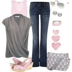 Muted Pink and Gray