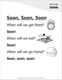 Soon, Soon, Soon (Sight Word 'soon'): Super Sight Words Poem