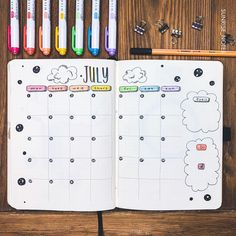 Here's the full calendar spread for July :) Hope everyone is having a good day so far. I'm a little hungover to be honest but I'm hangin in…