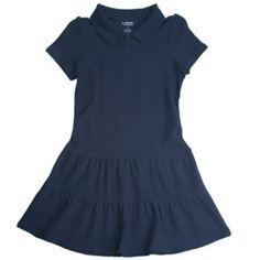 French Toast School Uniform Pique Polo Dress - Girls 4-6x