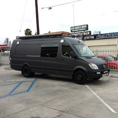 Just finished wrapping this Mercedes Sprinter in matte dark gray. - http://www.stickercity.com/sc-vehicle-wraps/just-finished-wrapping-this-mercedes-sprinter-in-matte-dark-gray