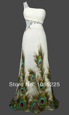 Angel Fashions Sexy um ombro Peacock Magro da dama de honra vestido verde em Vestidos de Madrinha de Roupas & acessórios no AliExpress.com