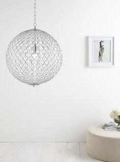 Chrome Darcy Ball Pendant Ceiling Light