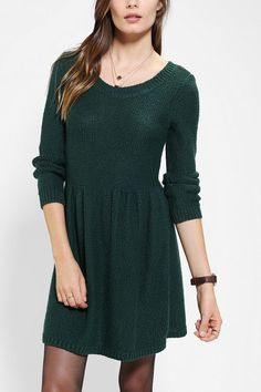 BDG Fit & Flare Sweater Dress #urbanoutfitters