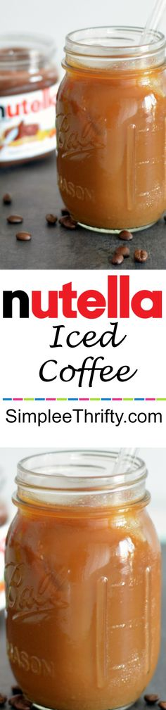 Enjoy this quick and easy Nutella Iced Coffee Drink! If your love Nutella and Coffee you have to try this! Perfect for summer too!