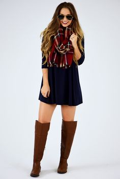 Join The Crowd Dress: Navy #shophopes