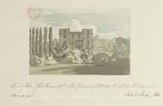 Lavender Hill, Wandsworth  View of a house at Lavender Hill, Wandsworth from Battersea Road. The house was the home of Charles Francis.  1813