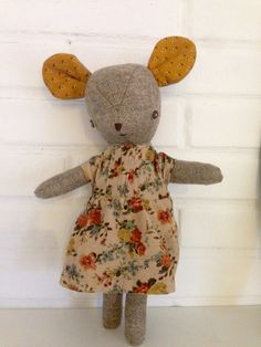 Miss Mouse handmade original doll by weewonderfuls on Etsy