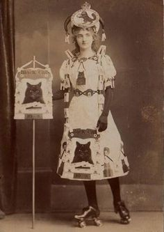 Black Cats Roller Derby Woman, c. 1800s