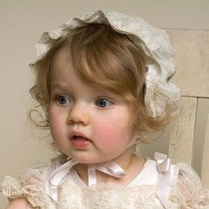Baby Girl Silk Bonnet - Jessica Silk Bonnet Collection - Baby Outfits for Infants Beautiful Children, Beautiful Babies, Beautiful Dolls, Simply Beautiful, Cute Kids, Cute Babies, Silk Bonnet, Baby Faces, Baby Bonnets