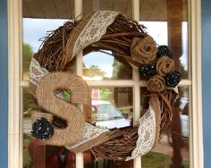 Hey, I found this really awesome Etsy listing at http://www.etsy.com/listing/129892065/burlap-lace-door-wreath