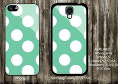 polkadot iPhone 4/4S case iPhone 5 case Samsung Galaxy S3 case Samsung Galaxy S4 case from descaCase on Wanelo