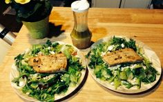 Lemony Mahi Mahi Salad Mahi Mahi Fillet, Low Carb Recipes, Healthy Recipes, 4 Ingredients, Salmon Burgers, Avocado Toast, Main Dishes, Veggies, Gluten Free