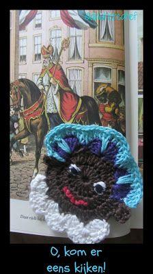 Dinah Creatief: Zwarte Pieten onderzetter + patroon