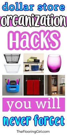 Store Organization Hacks Clever organization hacks from the Dollar Store that you'll never forget. Clever organization hacks from the Dollar Store that you'll never forget. Organisation Hacks, Organizing Hacks, Diy Hacks, Organization Store, Organization Station, Household Organization, Diy Hanging Shelves, Diy Wall Shelves, Floating Shelves Diy