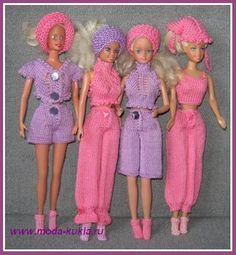 Вяжем шорты, капри, шаровары, брюки, носочки на Барби