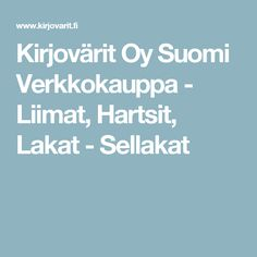Kirjovärit Oy Suomi Verkkokauppa - Liimat, Hartsit, Lakat - Sellakat