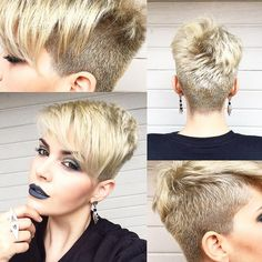 Neat Pixie haircut has always seems like the most daring and bold haircut idea for women. But it shouldn't have to be super short at all.Pixie Hairstyle Must Try The post Pixie haircut has . Girls Pixie Haircut, Short Pixie Haircuts, Girl Haircuts, Haircut For Thick Hair, Short Hair Cuts, Short Hair Styles, Pixie Cuts, Shaved Pixie Cut, Haircut Short