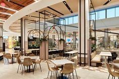 Restaurant Interior Design, Cafe Interior, Food Court Design, Ocean Food, Cafe Design, Cafe Restaurant, Shopping Center, Great Places, Centre
