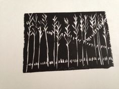 Woodcut print first ever