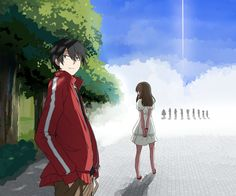 Ayano & Shintaro | Kagerou Project       Artwork by 中立 (click on the photo to visit the source!)
