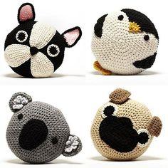 Crochet pillows from Etsy seller Peanut Butter Dynamite