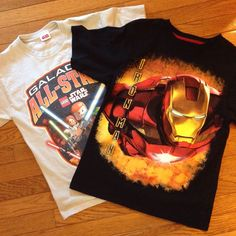 #marvel #IRON MAN #STAR WARS shirt SZ14/16 AWESOME EUC #BOYS #YOUTH #lucasfilm #MARVELSTARWARS #Everyday
