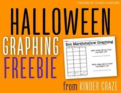 Add a little Halloween fun to your math lessons this Halloween.  This simple marshmallow graphing activity keeps things simple and has spaces to graph three Halloween marshmallow shapes: pumpkins, candy corn and bats. Provide each students with 10 marshmallows and let the graphing fun begin!